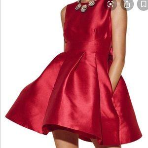 NWT - Kate Spade Open Back Silk Mini Dress w Bow